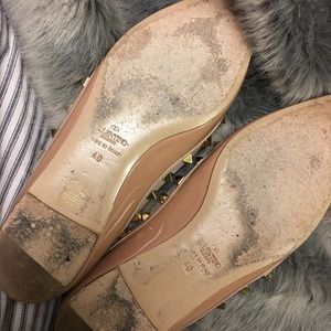 Valentino Shoes - Make An Offer: Nude Patent Rockstud Flats